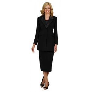 Satin Accented Church Uniform Suit