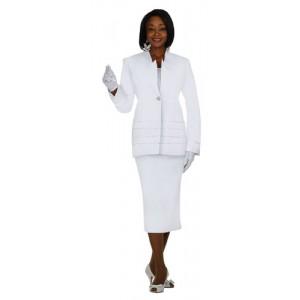 Satin Ribbon Accented Church Uniform Suit