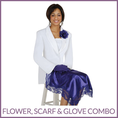 Flower, Scarf & Glove Combo